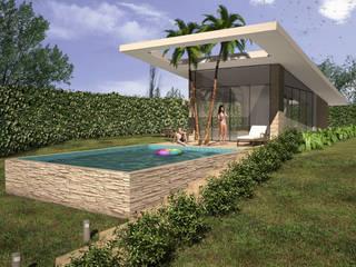 VIVIENDA CAMPESTRE: Casas de estilo moderno por Elementum Arquitectos SAS