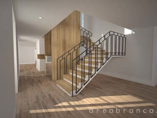 Modern Corridor, Hallway and Staircase by Areabranca Modern