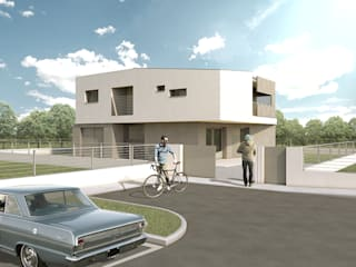Casa DM: Case in stile in stile Moderno di Mog Architetti