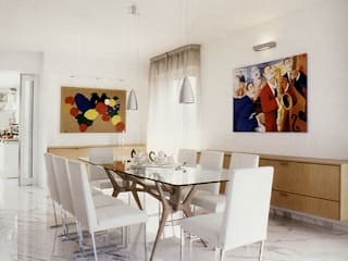 Cappelletti Architetti Modern dining room Marble White