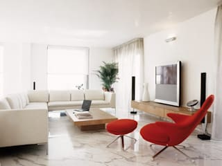 Cappelletti Architetti Living room Marble White