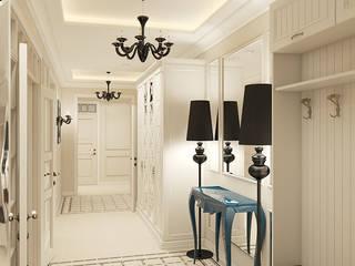 Corredores, halls e escadas clássicos por Дизайн Студия 33 Clássico