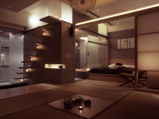 住宅(場域 ●界定) 鼎爵室內裝修設計工程有限公司 客廳 強化水泥 Brown