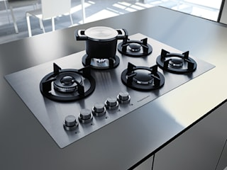 Hobs need not be black: Küppersbusch offers the right hob for every taste – from black and discreet grey to pure white od Küppersbusch Hausgeräte GmbH Nowoczesny