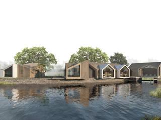 Casas de estilo  por Aguilar Arquitectos,