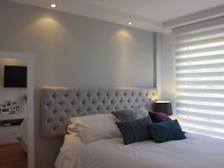 Habitación Daniela: Recámaras de estilo  por Home Reface - Diseño Interior CDMX