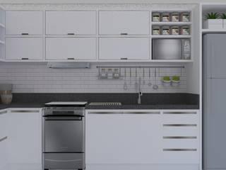 Cozinha Branca Cozinhas modernas por Daleffe e Marques Arquitetura Moderno