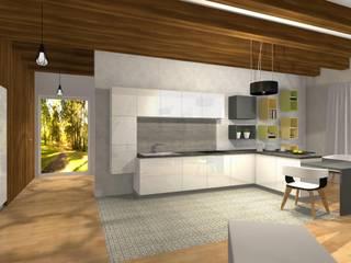 Dom wakacyjny na Kaszubach: styl , w kategorii Salon zaprojektowany przez Pracownia Projektowa ArtSS Sylwia Stankiewicz