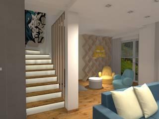 Salon: styl , w kategorii Salon zaprojektowany przez Pracownia Projektowa ArtSS Sylwia Stankiewicz