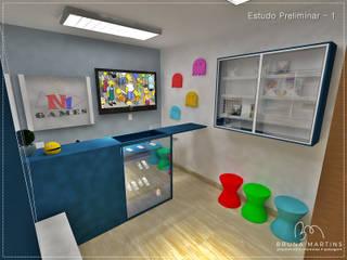 Espaço Comercial - Galeria Espaços comerciais minimalistas por BRUNA MARTINS Arquitetura + Interiores Minimalista