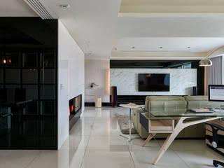 Salas / recibidores de estilo  por Glocal Architecture Office (G.A.O) 吳宗憲建築師事務所/安藤國際室內裝修工程有限公司
