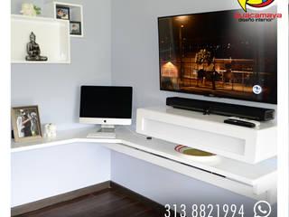 CENTRO DE TV Y ESTUDIO Estudios y despachos de estilo minimalista de Guacamaya Diseño Interior Minimalista