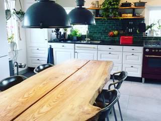 Keuken met Bejmat tegels: industriële Keuken door Designtegels
