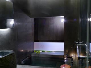 住宅(漫步雲間) 鼎爵室內裝修設計工程有限公司 浴室 大理石 Black