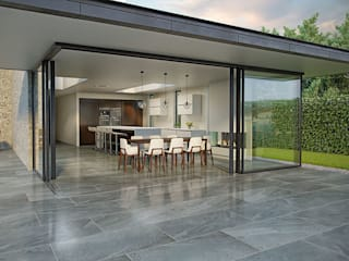 Valverdi Indoor-Out Indoor Outdoor Porcelain Tiles The London Tile Co. Paredes y pisosBaldosas y azulejos Porcelana Gris