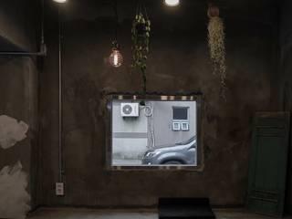 Espaços de restauração modernos por 블랙인테리어 Moderno