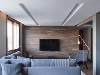 Гостиная в . Автор – Bibiana Menegaz - Arquitetura de Atmosfera, Минимализм