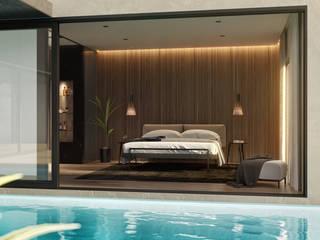 Villa Sul Espanha: Quartos  por Tendenza -  Interiors & Architecture Studio