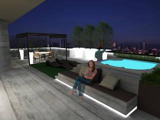 Cappelletti Architetti Modern style balcony, porch & terrace