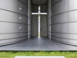 Alfa e Omega, un'edicola funeraria contemporanea Case in stile minimalista di FRANCO Arch. Emanuele - IDEeA Interior Design e Architettura Minimalista