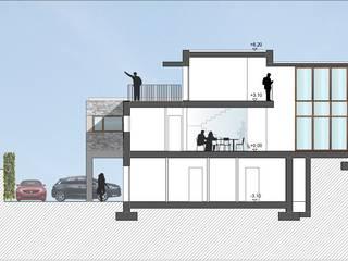 casa JJ a Veduggio, Mb - progetto (2016): Case in stile  di sergio fumagalli architetto