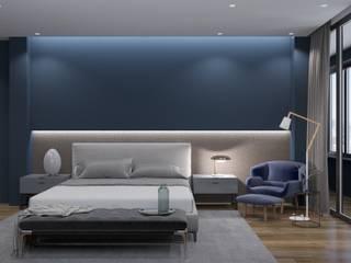 Phòng ngủ phong cách tối giản bởi homify Tối giản