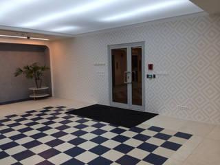 Minimalist corridor, hallway & stairs by Flatsdesign Minimalist