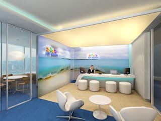 FLY GUAM HEADQUARTERS / OCEAN CENTRE - TST :  Offices & stores by M2A Design,