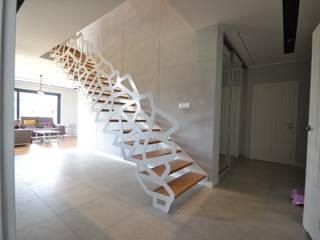 Nowoczesne schody ażurowe: styl , w kategorii Salon zaprojektowany przez Schodo System