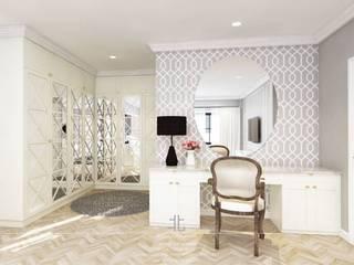 บ้านพักคุณเพชร+คุณหนุ่ม @วรารมย์ พรีเมียม เชียงใหม่.:  ห้องแต่งตัว by เหนือ ดีไซน์ สตูดิโอ (North Design Studio)