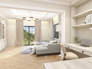eclectic Living room by เหนือ ดีไซน์ สตูดิโอ (North Design Studio)