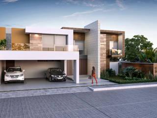 Casa TLPNS: Casas de estilo  por Estudio Colectivo de Arquietctura