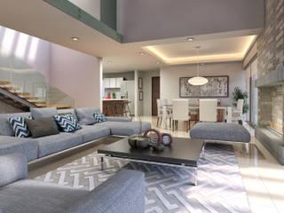 Casa TLPNS: Salas de estilo  por Estudio Colectivo de Arquietctura