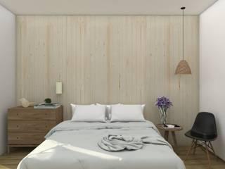 オリジナルスタイルの 寝室 の UNUM - ARQUITETURA E ENGENHARIA オリジナル