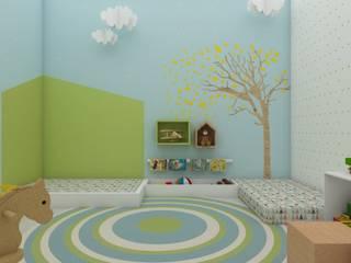 Детские комнаты в . Автор – UNUM - ARQUITETURA E ENGENHARIA, Средиземноморский
