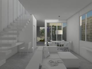 Salon de style  par UNUM - ARQUITETURA E ENGENHARIA, Moderne