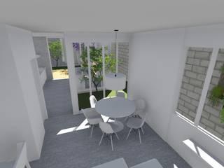 Столовые комнаты в . Автор – UNUM - ARQUITETURA E ENGENHARIA, Модерн