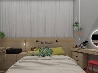 Спальни в . Автор – UNUM - ARQUITETURA E ENGENHARIA, Скандинавский