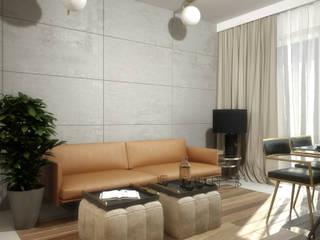 63m2 Wojszyce: styl , w kategorii Salon zaprojektowany przez Pracownia projektowa Na Antresoli