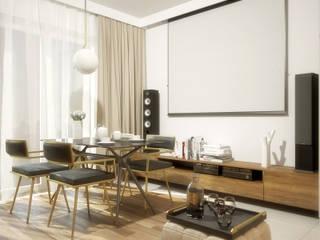 63m2 Wojszyce: styl , w kategorii Jadalnia zaprojektowany przez Pracownia projektowa Na Antresoli