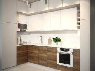 63m2 Wojszyce: styl , w kategorii Kuchnia zaprojektowany przez Pracownia projektowa Na Antresoli