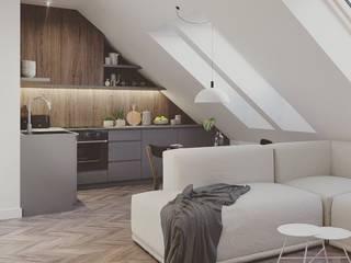 Mieszkanie na poddaszu: styl , w kategorii Kuchnia zaprojektowany przez Pracownia projektowa Na Antresoli