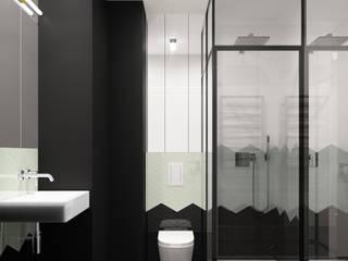 Mieszkanie na poddaszu: styl , w kategorii Łazienka zaprojektowany przez Pracownia projektowa Na Antresoli