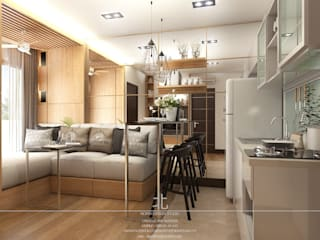 Living room by เหนือ ดีไซน์ สตูดิโอ (North Design Studio)