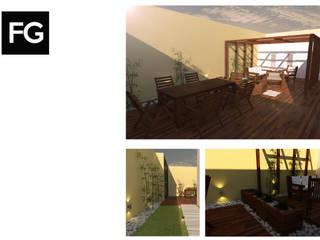 DISEÑO EXTERIOR JC: Casas de estilo  por FG ARQUITECTURA E INTERIORISMO