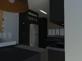 Cozinha para casal jovem - Navegantes - SC Cozinhas industriais por Daleffe e Marques Arquitetura Industrial
