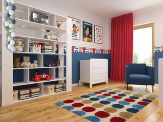 Pokój dla chłopca: styl , w kategorii Pokój dziecięcy zaprojektowany przez APP Proste Wnętrze Maria Podobińska-Tuleja