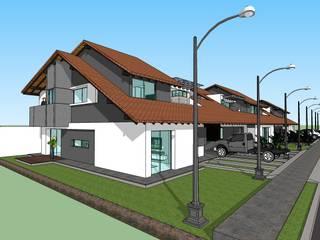 Conjunto residencial campestre Casas modernas de MARATEA estudio Moderno