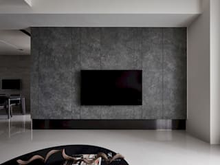 理絲室內設計有限公司 Ris Interior Design Co., Ltd. Modern Living Room Tiles Grey
