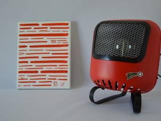 Lampe Design, issue d'un ancien radiateur français de marque « Etoile » des années 60.:  de style  par ArtJL